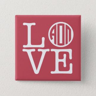 Alpha Omicron Pi Love 15 Cm Square Badge