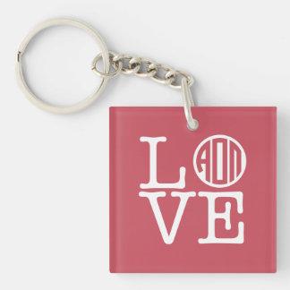 Alpha Omicron Pi Love Key Ring