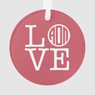 Alpha Omicron Pi Love Ornament