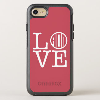 Alpha Omicron Pi Love OtterBox Symmetry iPhone 8/7 Case
