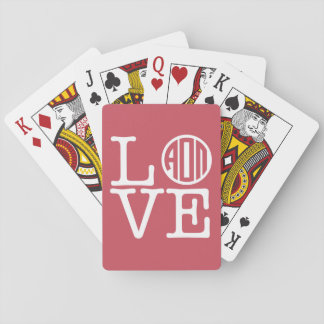 Alpha Omicron Pi Love Playing Cards