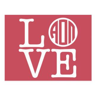 Alpha Omicron Pi Love Postcard