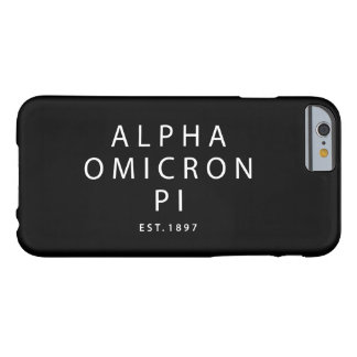 Alpha Omicron Pi Modern Type Barely There iPhone 6 Case