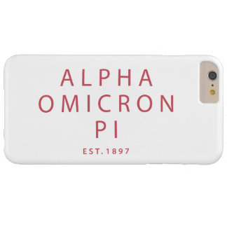Alpha Omicron Pi Modern Type Barely There iPhone 6 Plus Case