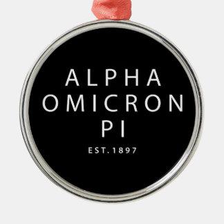 Alpha Omicron Pi Modern Type Christmas Ornament