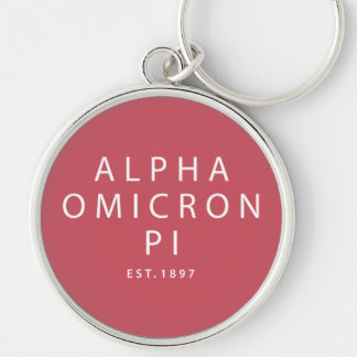 Alpha Omicron Pi Modern Type Key Ring