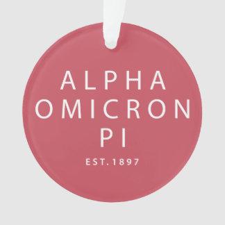 Alpha Omicron Pi Modern Type Ornament