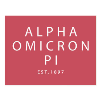 Alpha Omicron Pi Modern Type Postcard