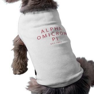 Alpha Omicron Pi Modern Type Shirt