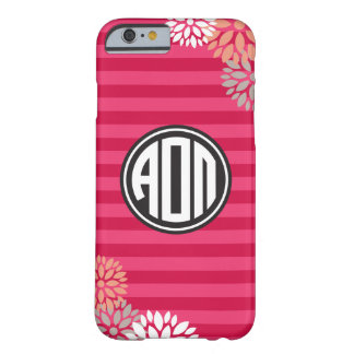 Alpha Omicron Pi | Monogram Stripe Pattern Barely There iPhone 6 Case