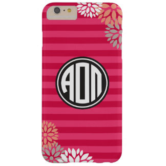 Alpha Omicron Pi | Monogram Stripe Pattern Barely There iPhone 6 Plus Case