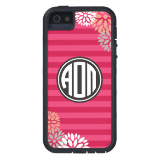 Alpha Omicron Pi | Monogram Stripe Pattern Case For The iPhone 5