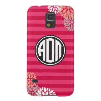 Alpha Omicron Pi | Monogram Stripe Pattern Galaxy S5 Cases