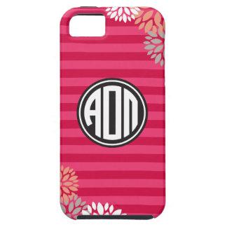 Alpha Omicron Pi | Monogram Stripe Pattern iPhone 5 Cases