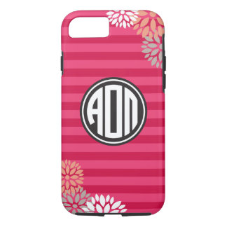 Alpha Omicron Pi | Monogram Stripe Pattern iPhone 8/7 Case