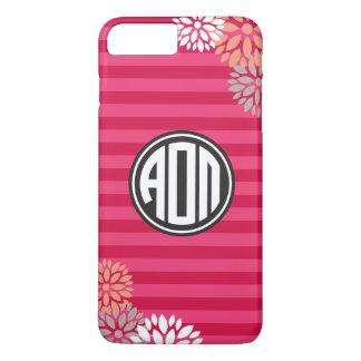 Alpha Omicron Pi | Monogram Stripe Pattern iPhone 8 Plus/7 Plus Case