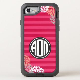 Alpha Omicron Pi | Monogram Stripe Pattern OtterBox Defender iPhone 8/7 Case