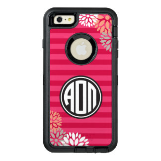 Alpha Omicron Pi | Monogram Stripe Pattern OtterBox Defender iPhone Case