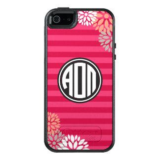 Alpha Omicron Pi | Monogram Stripe Pattern OtterBox iPhone 5/5s/SE Case