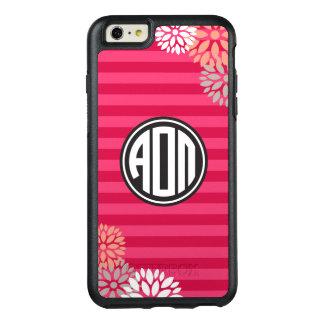 Alpha Omicron Pi | Monogram Stripe Pattern OtterBox iPhone 6/6s Plus Case