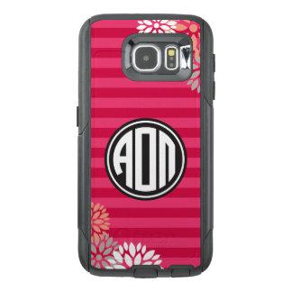 Alpha Omicron Pi | Monogram Stripe Pattern OtterBox Samsung Galaxy S6 Case