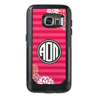 Alpha Omicron Pi | Monogram Stripe Pattern OtterBox Samsung Galaxy S7 Case