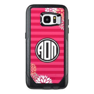 Alpha Omicron Pi | Monogram Stripe Pattern OtterBox Samsung Galaxy S7 Edge Case