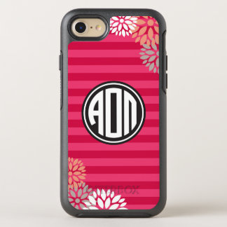 Alpha Omicron Pi | Monogram Stripe Pattern OtterBox Symmetry iPhone 7 Case
