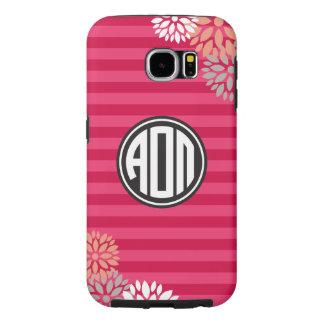Alpha Omicron Pi | Monogram Stripe Pattern Samsung Galaxy S6 Cases