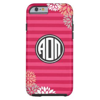 Alpha Omicron Pi | Monogram Stripe Pattern Tough iPhone 6 Case