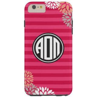 Alpha Omicron Pi | Monogram Stripe Pattern Tough iPhone 6 Plus Case