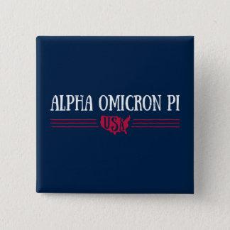 Alpha Omicron Pi USA 15 Cm Square Badge