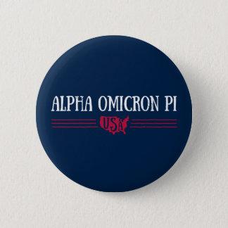 Alpha Omicron Pi USA 6 Cm Round Badge