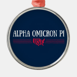 Alpha Omicron Pi USA Christmas Ornament