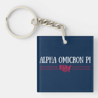 Alpha Omicron Pi USA Key Ring