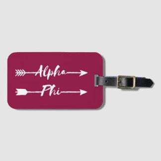 Alpha Phi | Arrows Luggage Tag
