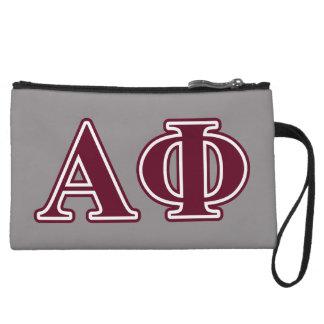 Alpha Phi Bordeaux Letters Wristlet Purse
