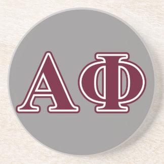 Alpha Phi Bordeaux Letters Coasters