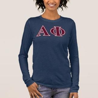 Alpha Phi Bordeaux Letters Long Sleeve T-Shirt
