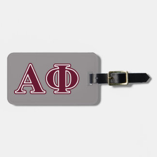 Alpha Phi Bordeaux Letters Luggage Tag