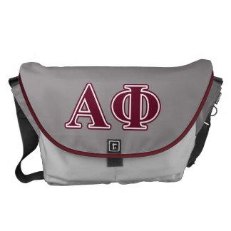 Alpha Phi Bordeaux Letters Messenger Bag