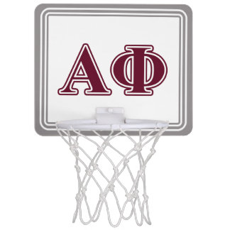 Alpha Phi Bordeaux Letters Mini Basketball Hoop