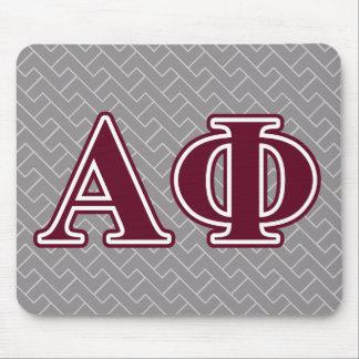 Alpha Phi Bordeaux Letters Mouse Mat