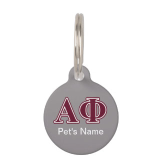 Alpha Phi Bordeaux Letters Pet ID Tag