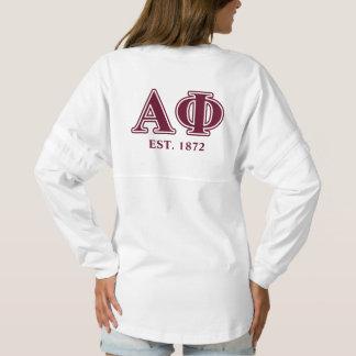 Alpha Phi Bordeaux Letters Spirit Jersey