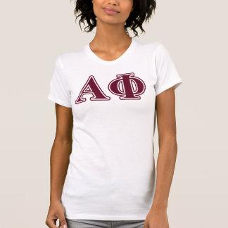 Alpha Phi Bordeaux Letters T-Shirt