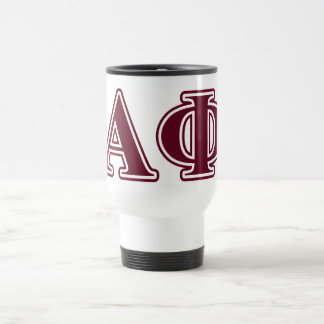 Alpha Phi Bordeaux Letters Travel Mug