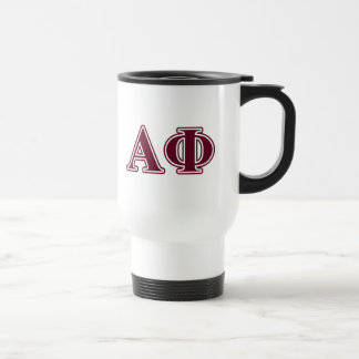 Alpha Phi Bordeaux Letters Travel Mug