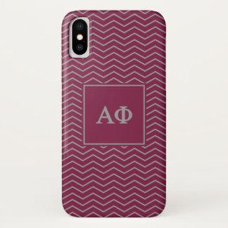Alpha Phi | Chevron Pattern iPhone X Case