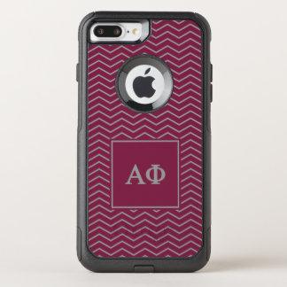 Alpha Phi | Chevron Pattern OtterBox Commuter iPhone 8 Plus/7 Plus Case